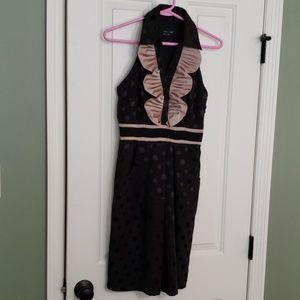 EUC max & cleo polka dot dress size 4